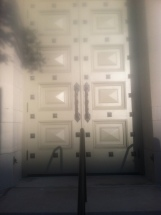 The door on Temple's baptist Temple. | Photo credit: Andrew Parent